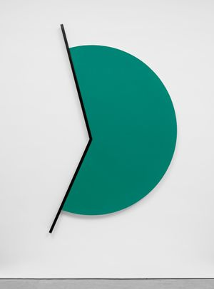 Curve for Blue Green by Leon Polk Smith contemporary artwork