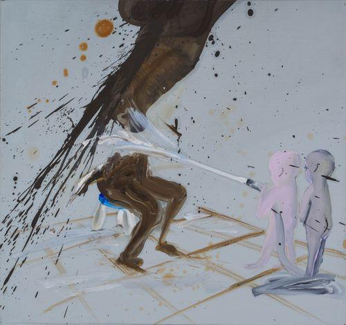 Hose Down by Tala Madani contemporary artwork