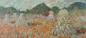 Sketch in Guishan, Valley of Buds in Autumn (To Nelson Mandela) by Mao Xuhui contemporary artwork