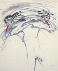 Male Bomb I by Nancy Spero contemporary artwork works on paper