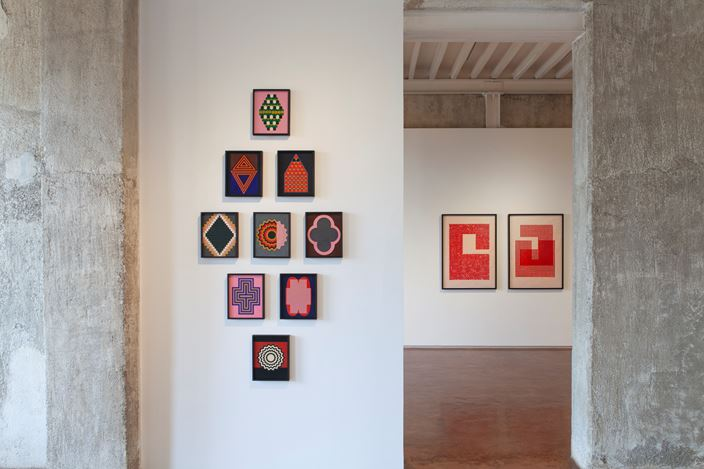 Exhibition view: Lubna Chowdhary, Code Switch, Jhaveri Contemporary, Mumbai (14 January–27 February 2021). Courtesy Jhaveri Contemporary. Photo: Mohammed Chiba.