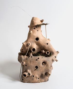 Bio Deluxe Insect Hotel by Judith Egger contemporary artwork