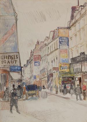 La rue Vieille du Temple à Paris by Raoul Dufy contemporary artwork