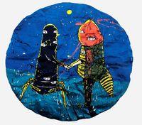 Love #2 by Eko Nugroho contemporary artwork painting, textile