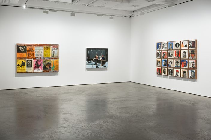 Exhibition view: Sam Nhlengethwa,Jazz and Blues at Night, Goodman Gallery, London (12 August–25 September 2021). Courtesy Goodman Gallery.