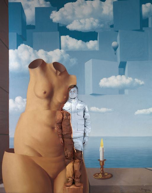 Hiding in Washington, DC No. 1 – Hirshhorn Museum by Liu Bolin contemporary artwork