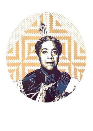 Queen Salōte by Tanya Edwards contemporary artwork print