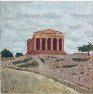 Temple by Stephan Balkenhol contemporary artwork