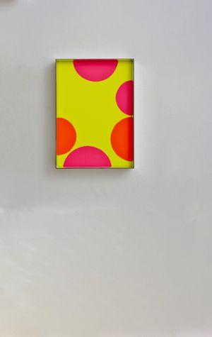 Fluo cut #16 by Regine Schumann contemporary artwork