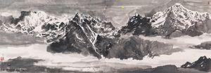 Drawing Yulong Mountain under the Moon by Wu Guanzhong contemporary artwork