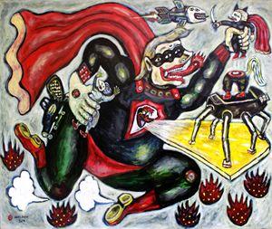 Super Trump - Land by Heri Dono contemporary artwork