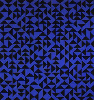Intaglio with Triangles Album Exacta 105/125 edited by F. Squatriti and G. Alviani, Milan 1985 by Anni Albers contemporary artwork