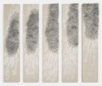 Weisser Vogel by Günther Uecker contemporary artwork painting