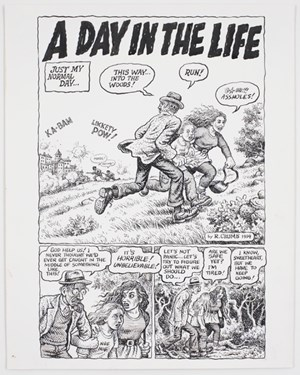 Self-Loathing Comics #1: A Day in the Life by R. Crumb contemporary artwork