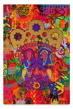Taipei Dangai 1 by Ryan McGinness contemporary artwork