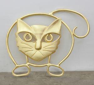 Untitled (Cat Brooch) by Mickalene Thomas contemporary artwork