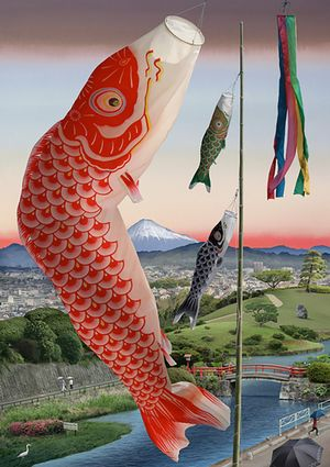 Spring Festival (after Hiroshige) by Emily Allchurch contemporary artwork photography