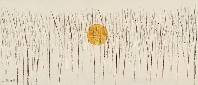 Yellow Moon Over A Bare Wood by Yeh Shih-Chiang contemporary artwork