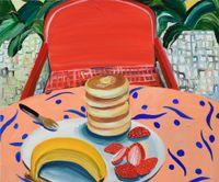Summer Beach by Aki Kondo contemporary artwork painting