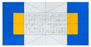 Untitled (Sign Typeface) by Matt Mullican contemporary artwork