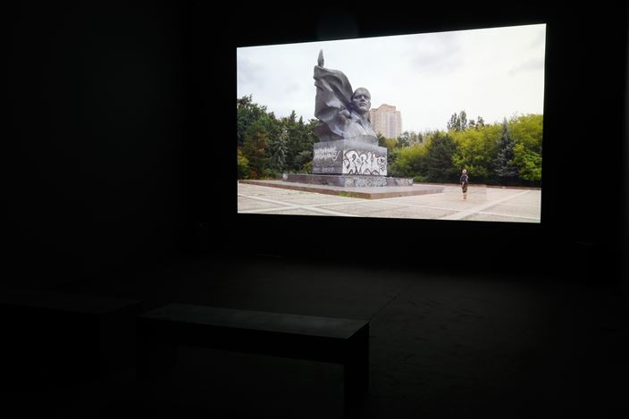 Exhibition view: Kader Attia,Kader Attia 2009:2019 Films, Galerie Krinzinger, Vienna (29 October–11 December 2019). CourtesyGalerie Krinzinger.