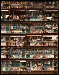 'Caged Balconies #2', City of Darkness, Hong Kong by Ian Lambot contemporary artwork painting, print