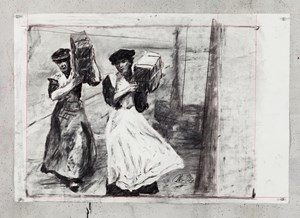 Untitled (Drawing from Wozzeck 23) by William Kentridge contemporary artwork