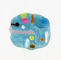 La La (Tray) by Marie Le Lievre contemporary artwork painting, works on paper
