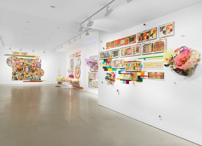 Exhibition view: Judy Pfaff, Miles McEnery Gallery, 520 West 21st Street, New York (7 February–9 March 2019). Courtesy Miles McEnery Gallery.