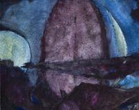 Abstrakte Landschaft by Herbert Beck contemporary artwork works on paper