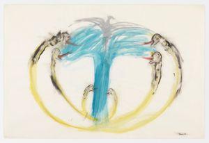 Bomb, Dove and Victims by Nancy Spero contemporary artwork