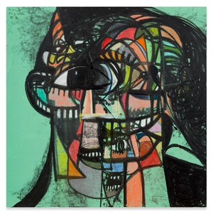 Untitled (Head #2) by George Condo contemporary artwork