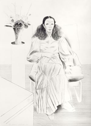 Brooke Hopper by David Hockney contemporary artwork