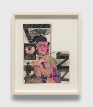 Untitled (Liza Minnelli with Pink Paint) by Ray Johnson contemporary artwork