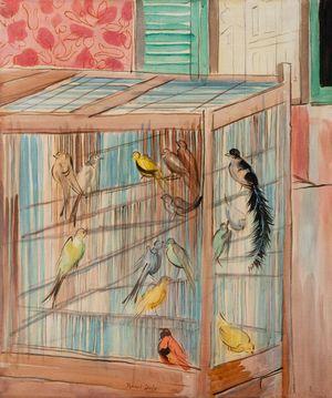 La cage by Raoul Dufy contemporary artwork