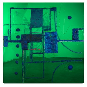 9 Songs, Geometric Abstraction 4 / Mona and Darling by Dale Frank contemporary artwork