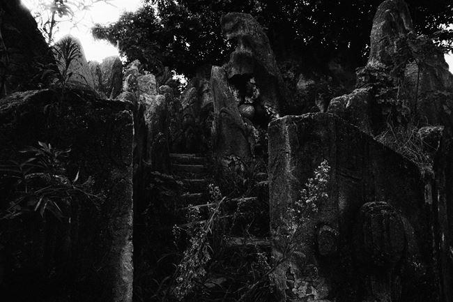 Faux rock landscaping by Tsun-shing Cheng contemporary artwork