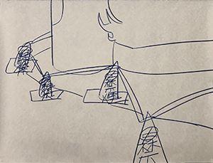 Cones – No Parking – No Smoking – in the morning by Kimihiko Hino contemporary artwork