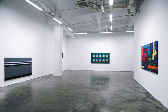 Exhibition view: Xiong Wenyun,Re-cover,Thousand Plateaus Art Space, Chengdu (26 June–3 August 2021). CourtesyA Thousand Plateaus Art Space.