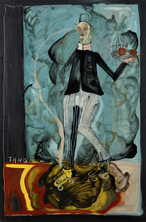 Waiter in Roller Skates by Tang Jo-Hung contemporary artwork