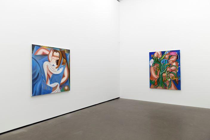 Exhibition view: Kristina Schuldt, Sans Souci,Galerie EIGEN + ART, Berlin (5 November–12 December 2020). Courtesy Galerie EIGEN + ART. Photo: Uwe Walter, Berlin