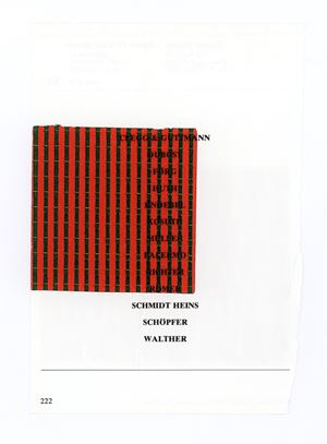 Untitled (SCHMIDT HEINS SCHÖPFER WALTHER 222) by Wade Guyton contemporary artwork