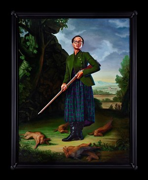 Portrait of Lynette Yiadom-Boakye, Jacob Morland of Capplethwaite by Kehinde Wiley contemporary artwork