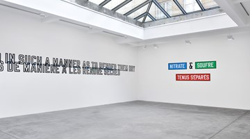 Contemporary art exhibition, Lawrence Weiner, FOLDED WAVES VAGUES PLIÉES at Galerie Marian Goodman, Paris