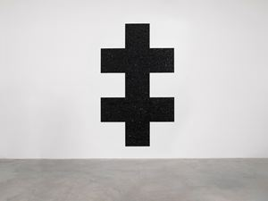Untitled (Double Cross) by Mary Corse contemporary artwork
