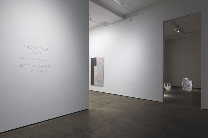 Exhibition view: Sam Moyer, Tone, Sean Kelly, New York (12 March–24 April 2021). Courtesy: Sean Kelly, New York. Photo: JSP Art Photography.