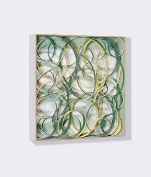 Studie zu OP No.1 V.II auf vier Lagen by Beat Zoderer contemporary artwork