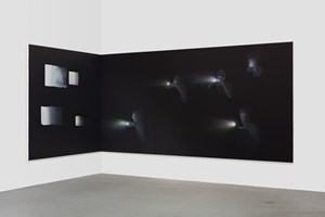 Corner Projection with Squares by Tala Madani contemporary artwork