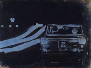 Il traffico by Mimmo Rotella contemporary artwork