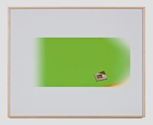 Untitled Green Screen Memory (Los Angeles Times) by Larry Johnson contemporary artwork